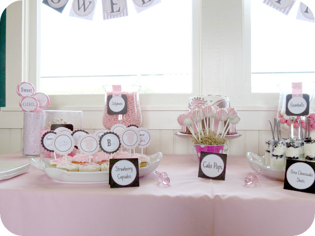 Baby Girl Shower Dessert Table