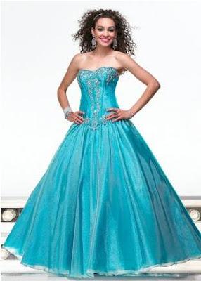 Vestido de 15 años de color Azul Turquesa