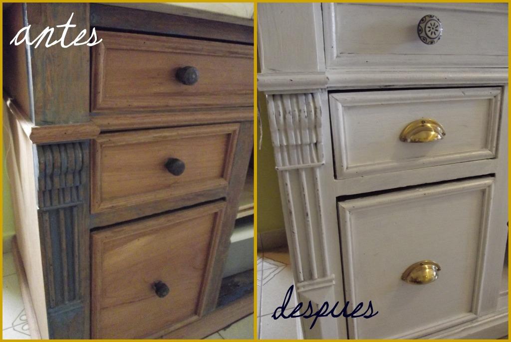 Deco ideas vintage antes y despu s - Cambiar color muebles ...