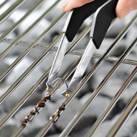 how to cleaning stainless steel grates. Black Bedroom Furniture Sets. Home Design Ideas