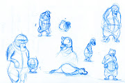 And exclusive to the blog, some of my other sketches. The practice ones!