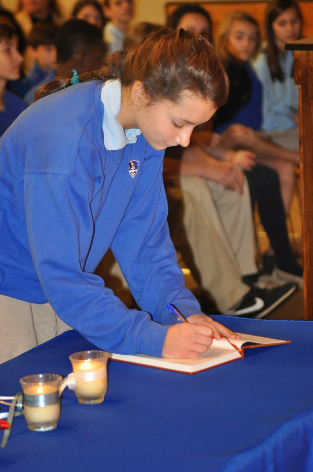 Montgomery Catholic Taps 27 New Members into National Junior Honor Society 2