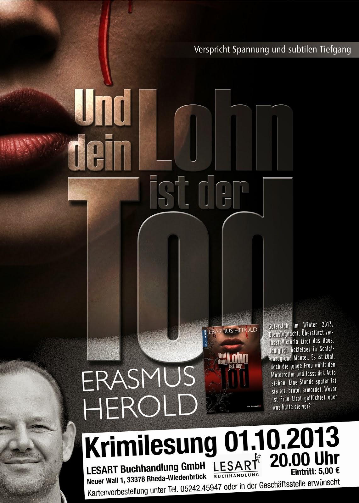 Plakat für Lesung