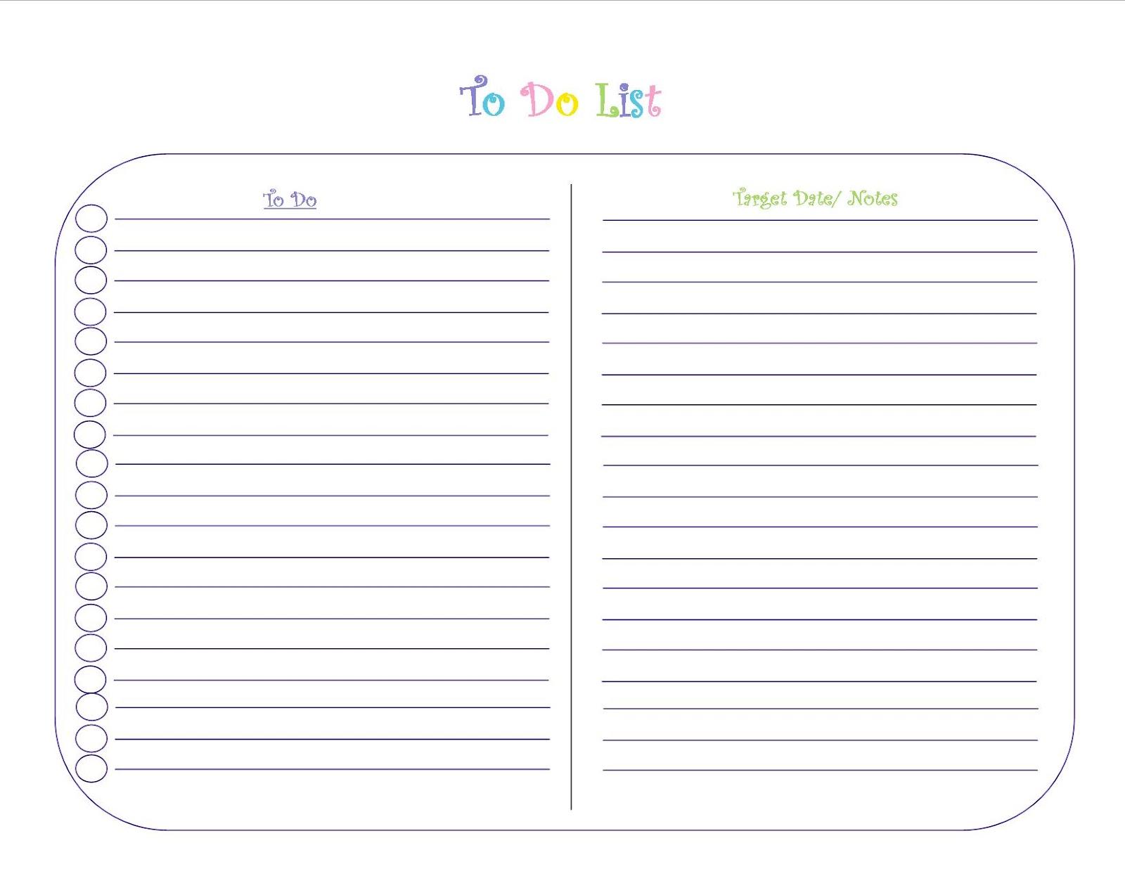 to do list template printable