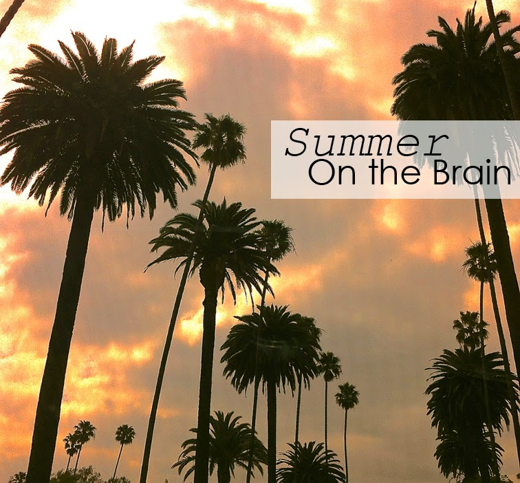 Sumer on the brain, palm trees, LA, Los Angeles California