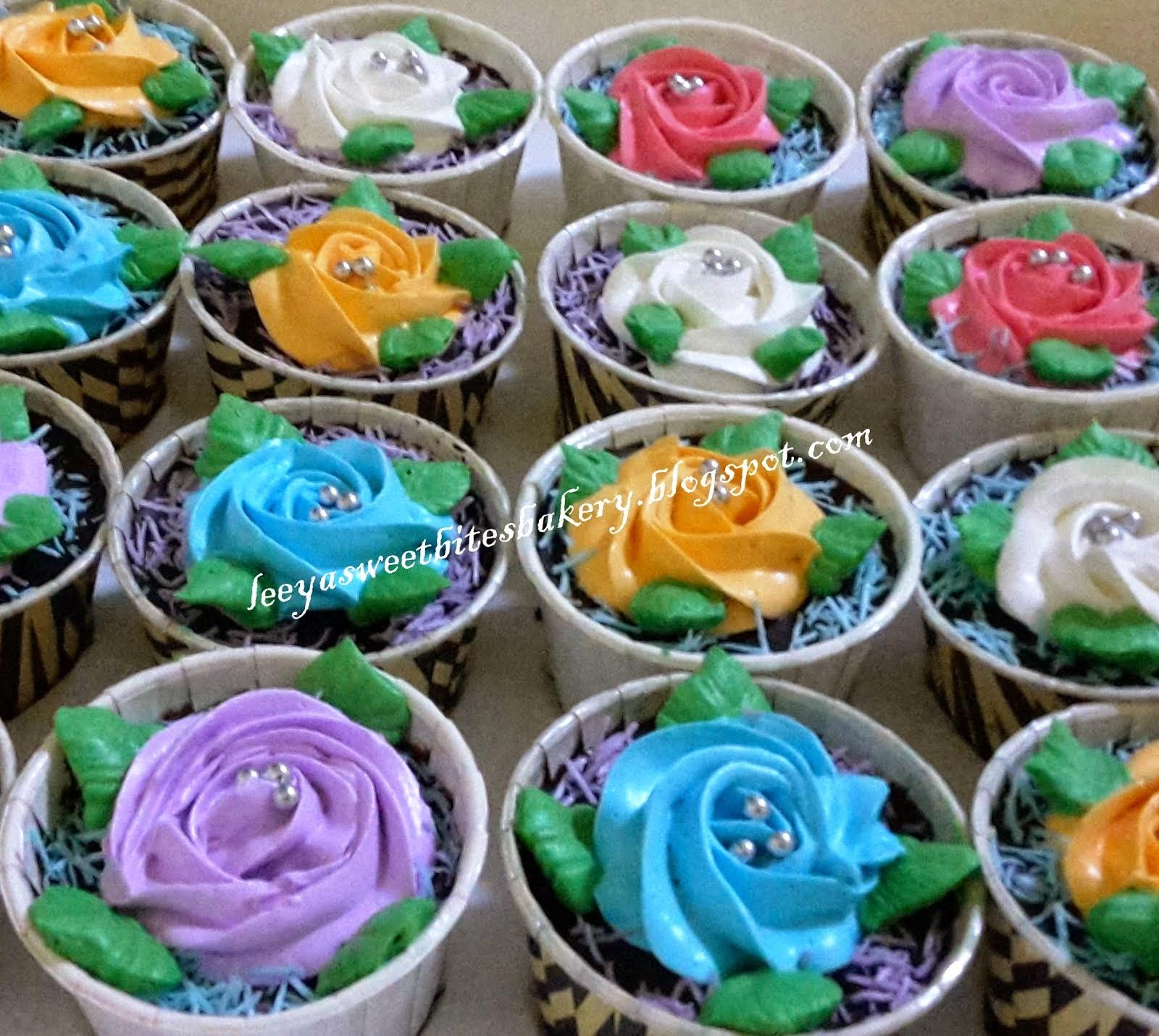 Roses Buttercream Cupcakes