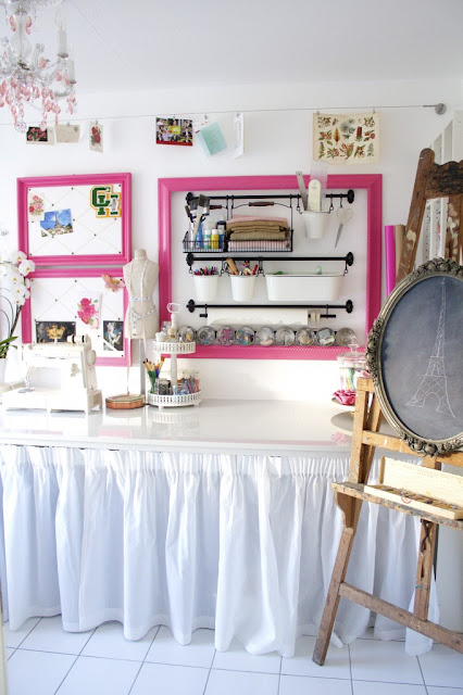 Creating a gorgeous craft room with flea market finds | Design Eur Life