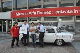 """Squadra Alfa Romeo Madeira nos """" 50 anos Giulia """" - Lisboa-Milão-Arese-Lisboa por estrada"""