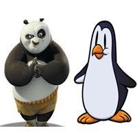google pinguim e panda