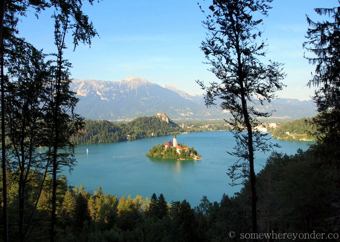 View of Lake Bled from up high