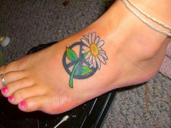 tatuaje de paz y flor categories tatuaje de flores tatuaje de paz