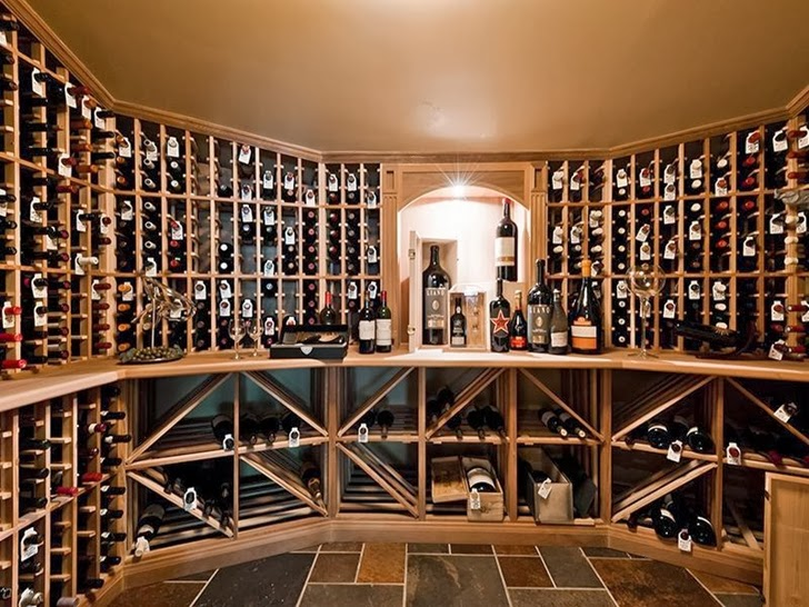 Wine cellar in Outstanding custom built house in Canada