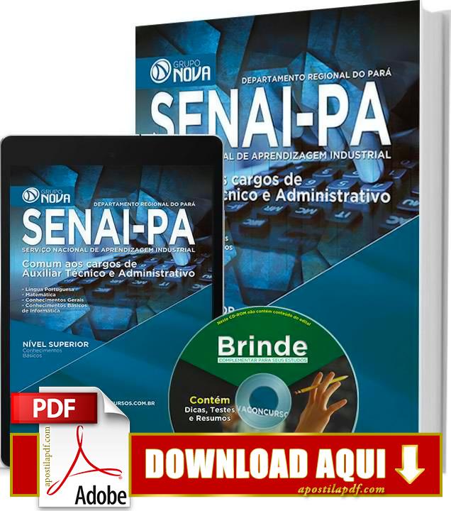Apostila SENAI PA 2015 Auxiliar Técnico e Administrativo Impressa PDF Grátis Download
