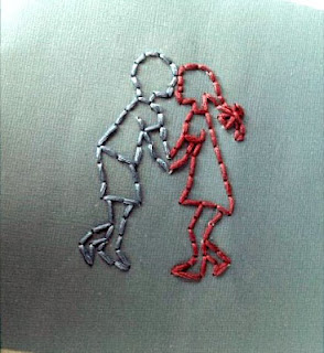 DIY Embroidered Valentines Day Card Idea