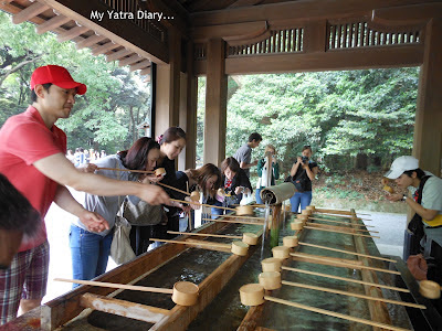Hand washing ritual at the Meiji Jingu Shrine, Tokyo