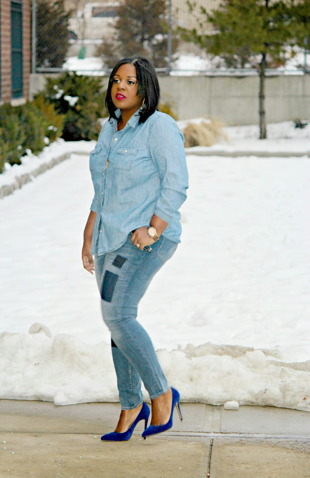 plus size jeans blogger nyc, IRO Sydrae Pumps