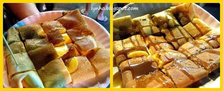 Mango Pancake Crepe(100Bht) & BananaPancake Crepe with Caramel Sauce ...
