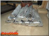 aluminum ingot pile