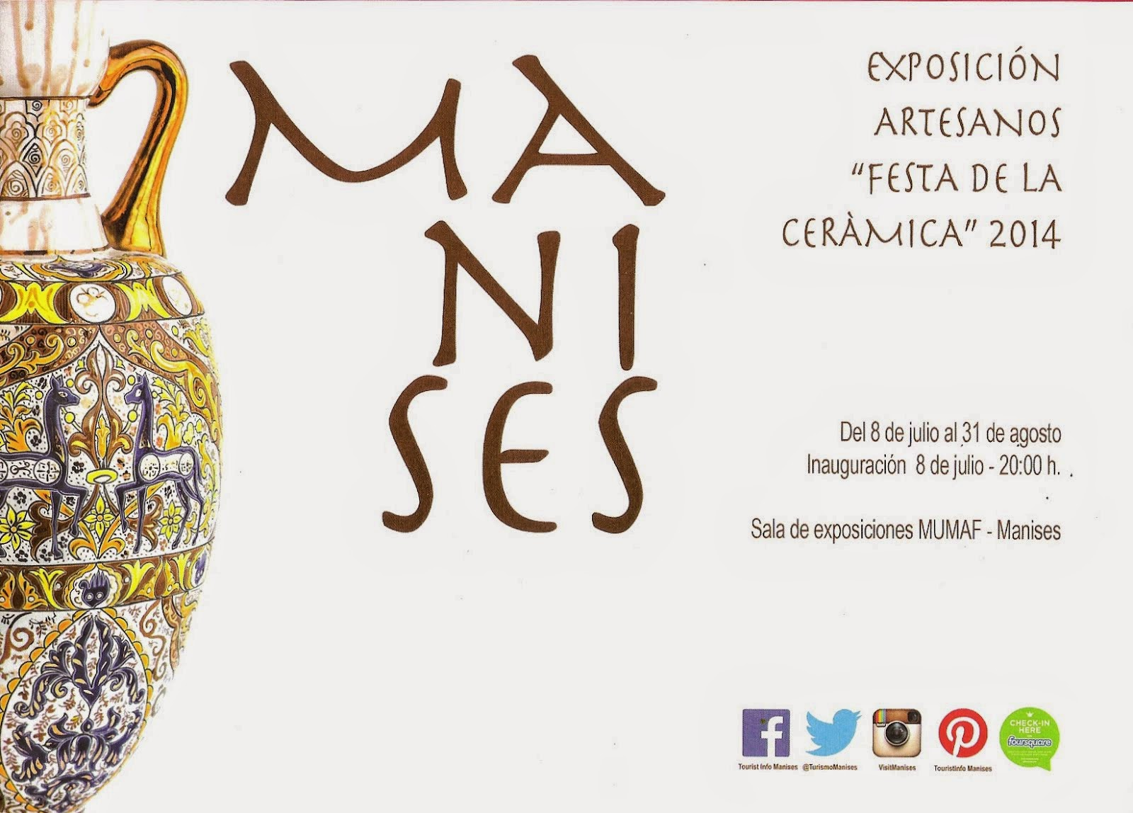 EXPOSICIÓN DE LOS ARTESANOS CERAMISTAS EN EL CENTRO CULTURAL EL ARTE DE MANISES