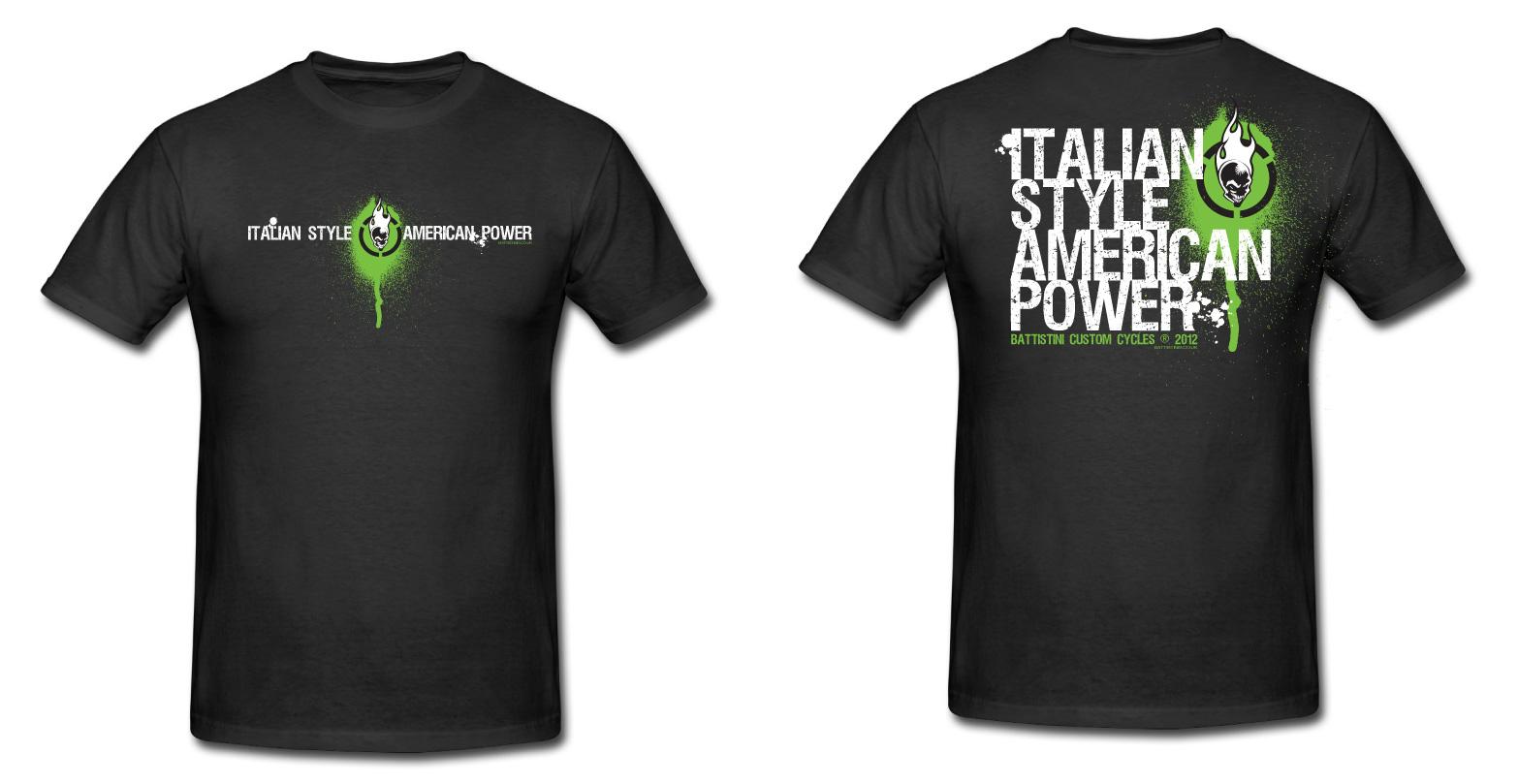 Battistinis custom cycles battistinis brand new t shirt for Designer t shirts brands