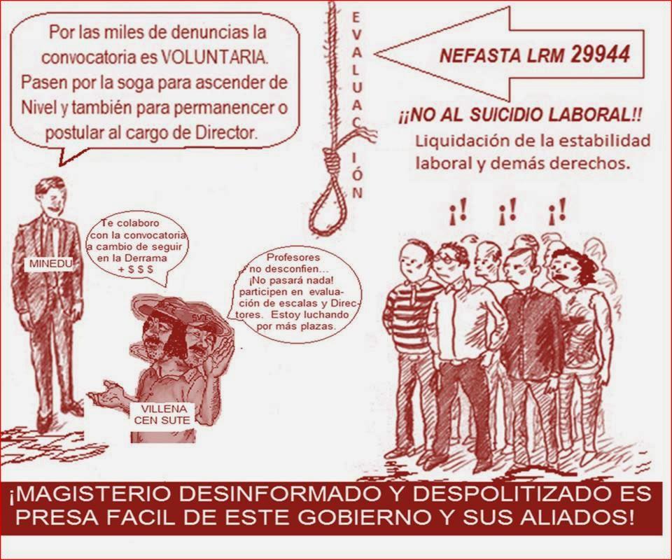 RAZONES DE PESO PARA DESISTIR DE LA SEUDA EVALUACIÓN DE ASCENSO DE ESCALAS