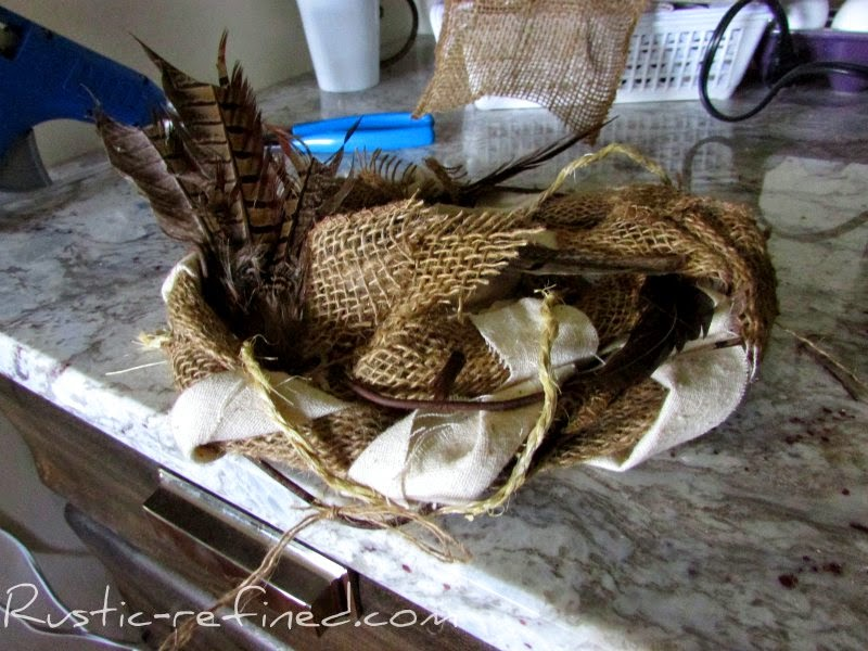 How to make Burlap Nests @ Rustic-refined.com