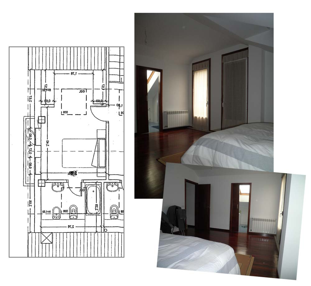 Proyectos tr s una buhardilla como vestidor tr s studio for Plano habitacion online