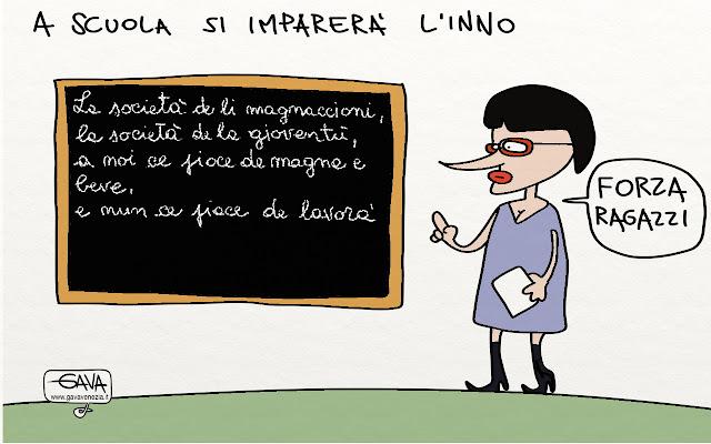 società dei magnaccioni Gava satira vignette