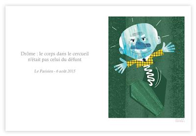 Alex Formika illustration fait divers du Parisien