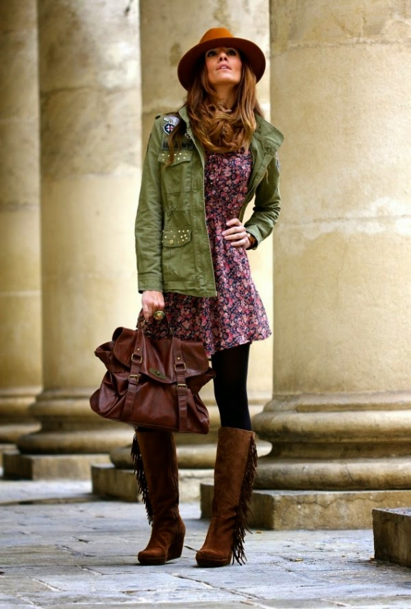 Stunning Fashion Combination With Military Green Jacket – Perfect ...