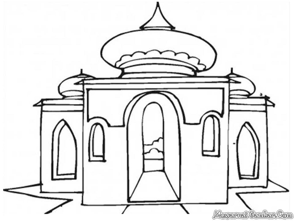 Mewarnai Gambar Masjid | Mewarnai Gambar