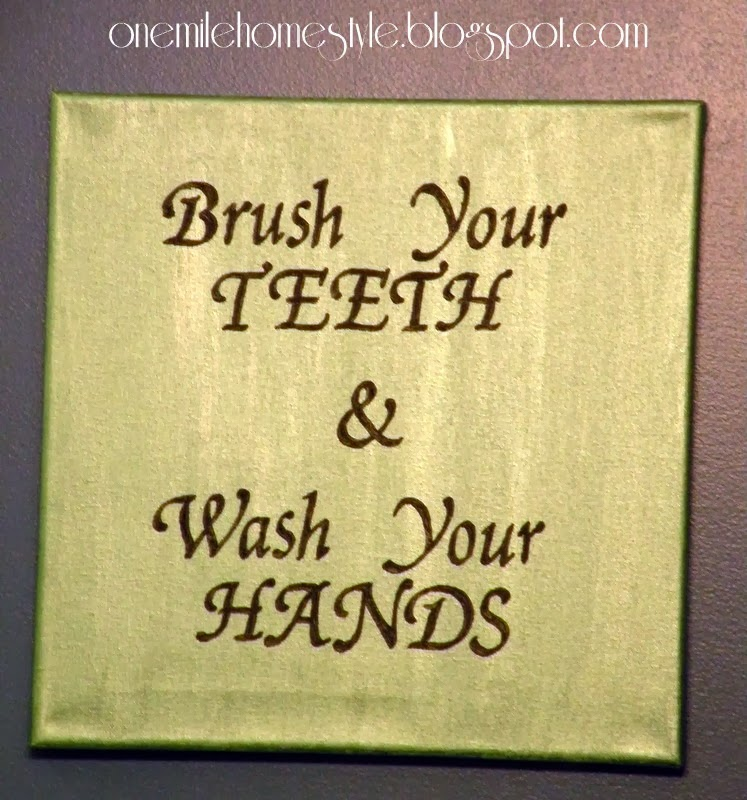 Brush your teeth & wash your hands - bathroom sign