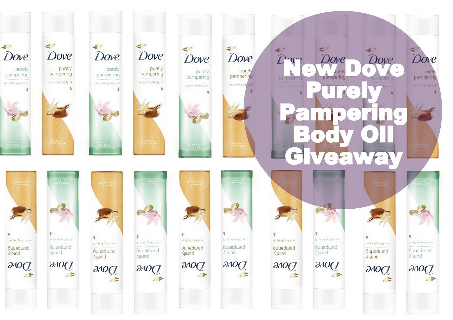 Dove Purely Pampering Body Oil Giveaway