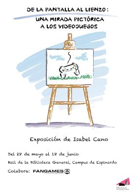 """cartel de la exposición: """"de la pantalla al lienzo"""""""