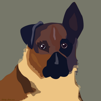 Doggie Portraits for a Friend