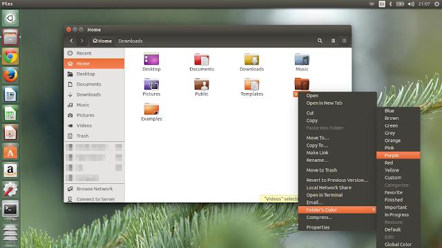folder color for ubuntu