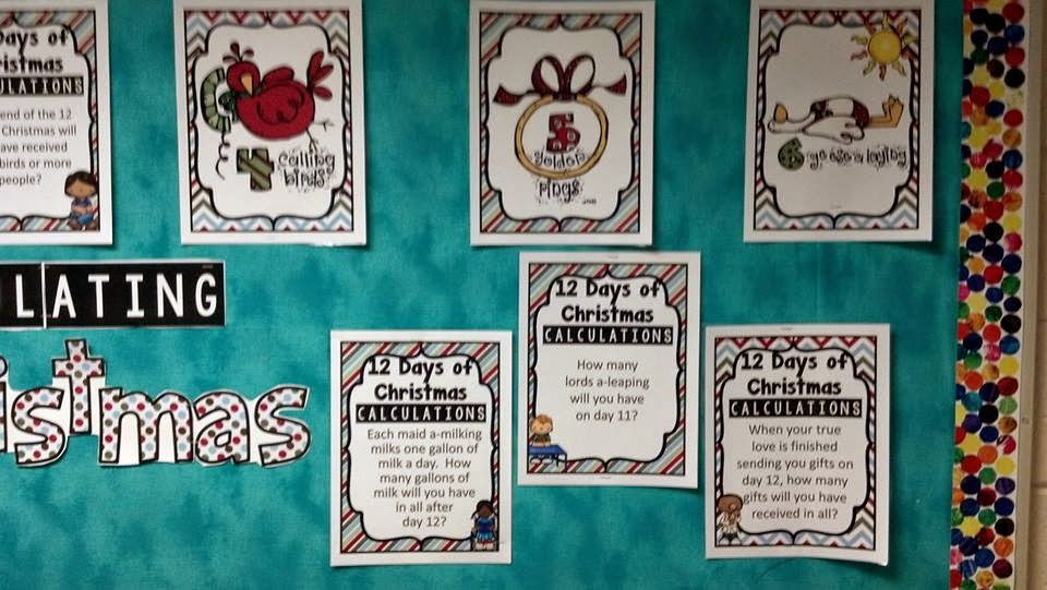 http://www.teacherspayteachers.com/Product/Christmas-Math-Bulletin-Board-Calculating-Christmas-1589972