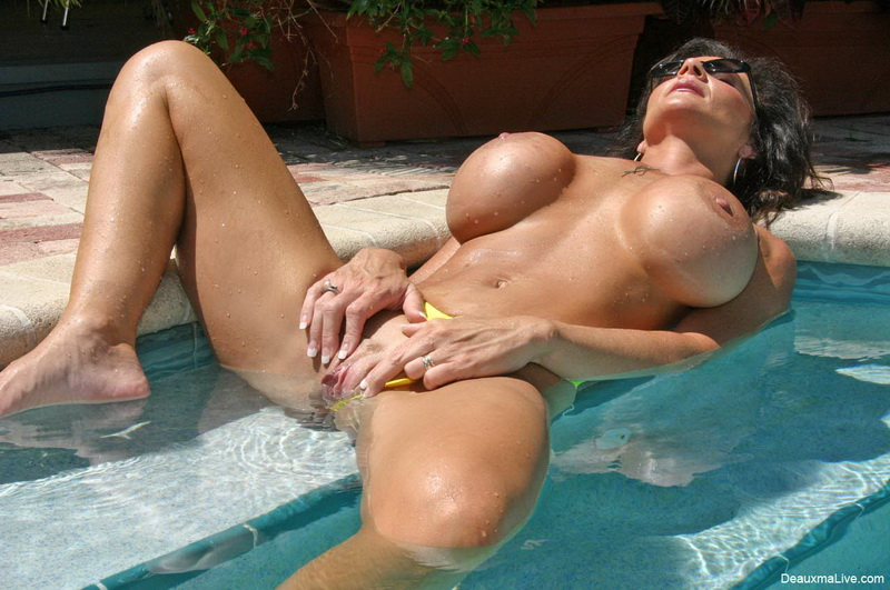 Big ass pool sex