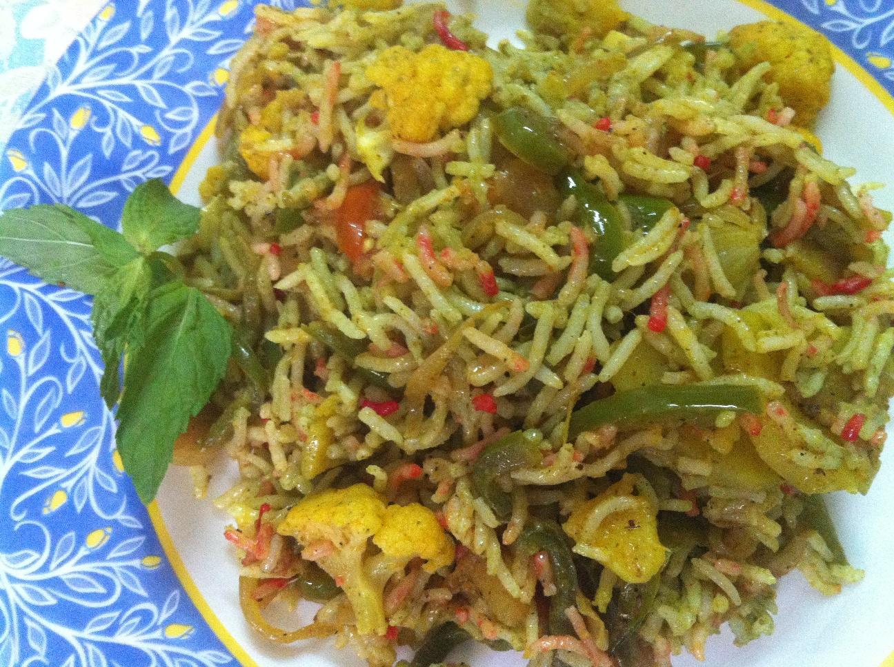 Veg hyderabadi biryani indian non indian recipe collection veg hyderabadi biryani forumfinder Image collections