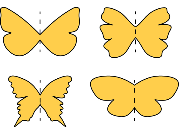 butterfly wings, wing shape, butterfly shapes