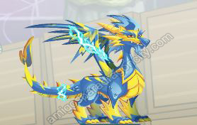 Negro Del Dragon-Dragon Lightning-Relampago | Amigos Para Dragon City