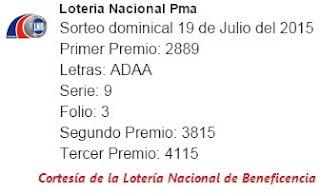 loteria-nacional-de-panama-19-de-julio-2015-sorteo-domingo