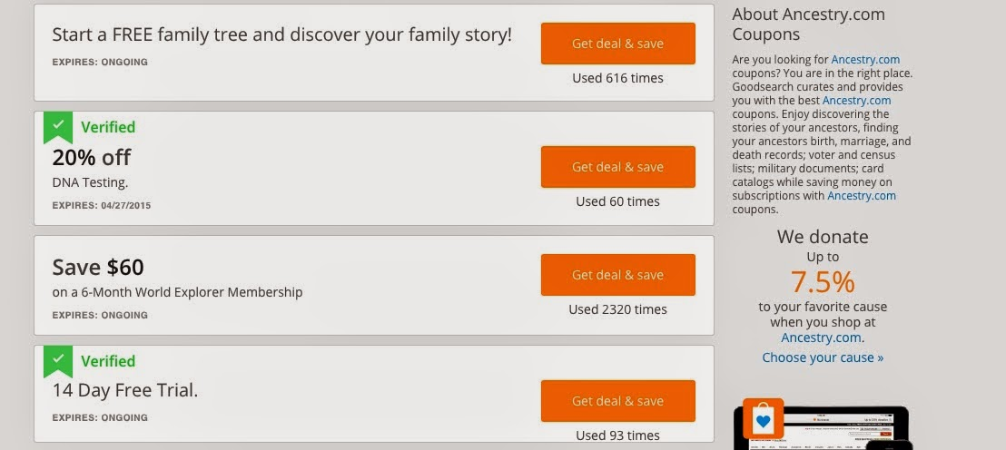 Gould genealogy coupon code