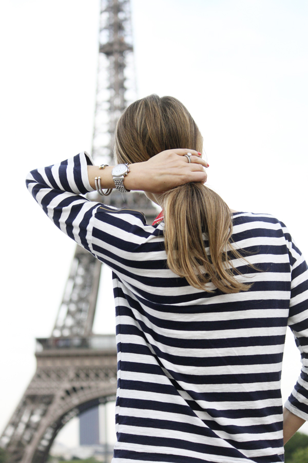 Stripes at the Eiffel Tower