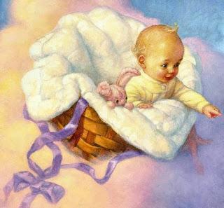 ребенок на облаке