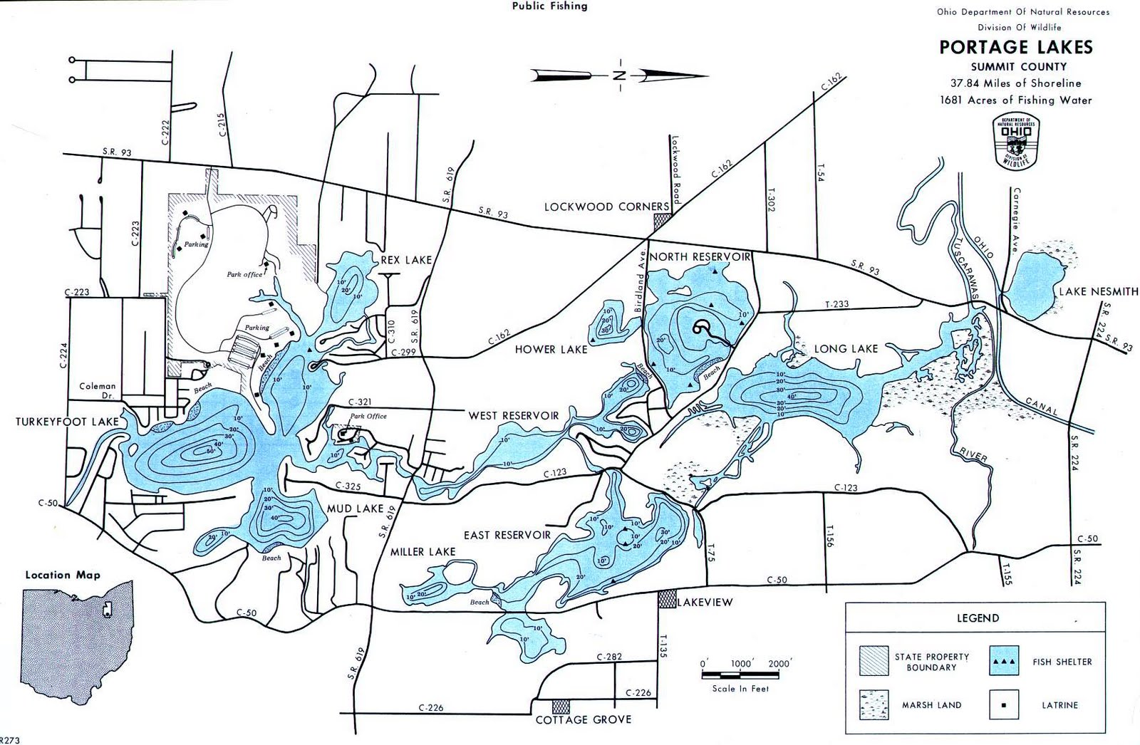 Gr8lakescamper ohio dnr portage lake state park 39 s dam for Ohio dnr fishing
