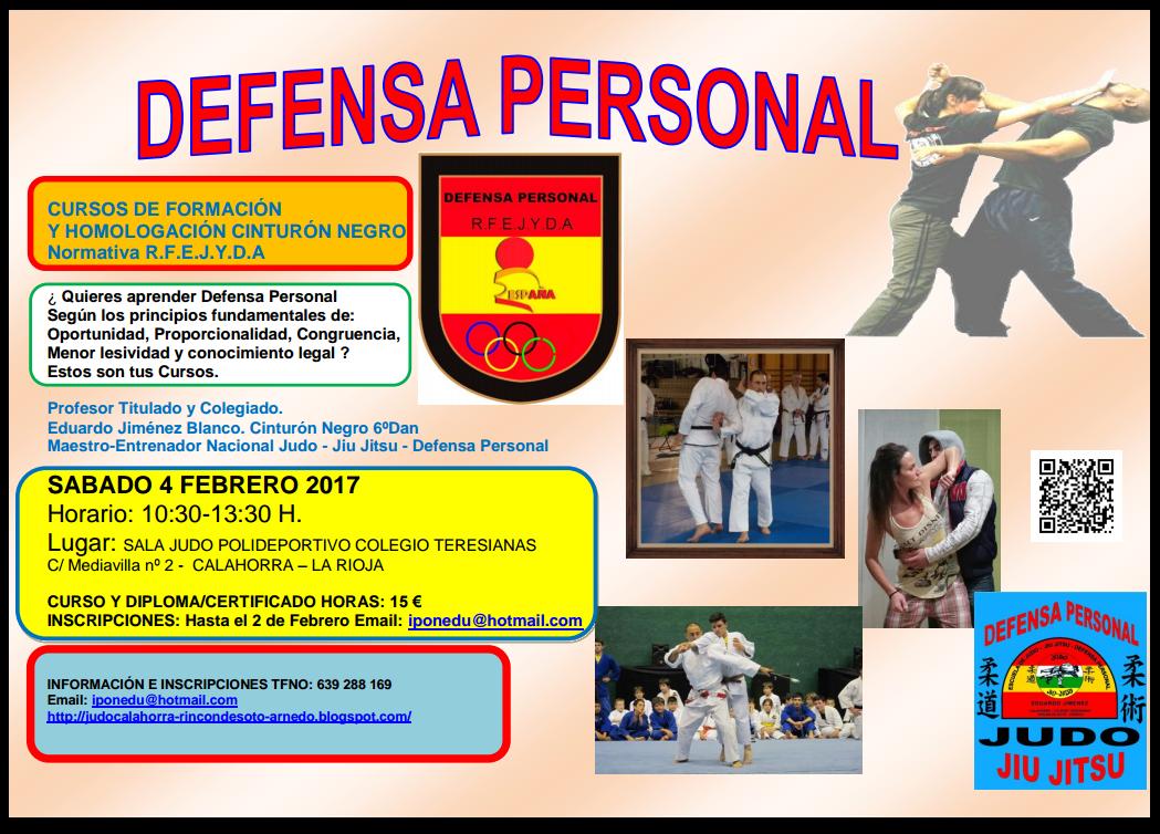 CURSO FORMACIÓN DEFENSA PERSONAL