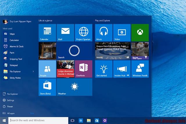 Download Windows 10 build 10240 Mới nhất bản hoàn chỉnh RTM