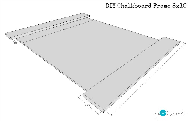 front plans for 8x10 chalkboard frame