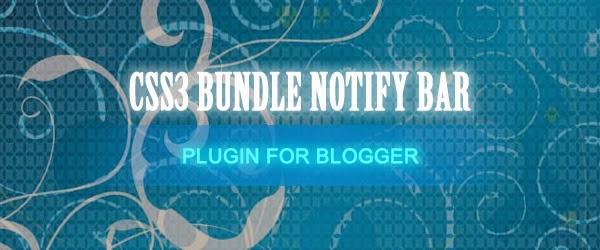 Hello / Notify Bar Plugin For Blogger Blogspot Banner